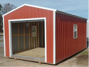 Garage Shed with Roll up door
